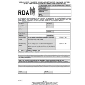 Application Forms